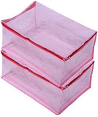 Global Wonders Net Transparent Saree Cover/Multiple Saree/Cloth Organiser/Suit Cover Set Of 2 Pcs