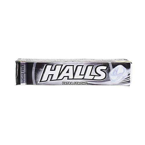 Pfefferminz-/Eukalyptus-Bonbons, Extra-Stark, zuckerfrei, Herkunftsland EU, Pack 32g - HALLS Extra Strong, Sugar Free, 32g