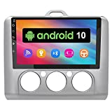 AWESAFE Android 10.0 [2GB+32GB] Radio Pantalla Coche para Ford Focus Mk2 2004-2011 con 9 Pulgadas Pantalla Táctil, Autoradio con Bluetooth/GPS/FM/RDS/USB/RCA, Apoyo Mandos Volante, Aparcamiento