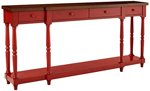 Stein World Furniture 4 Drawer Console, Fired Briquette