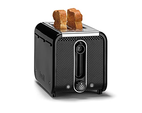 Dualit 2 Slice Studio Toaster | Black with Polished Trim | Reheat and Defrost Settings – Multiple levels of Browning Control | Matching Studio Kettle Available | 26410