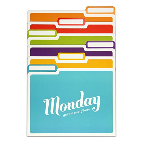 Knock Knock Days of the Week File Folders Set, Daily / Weekly Organizer Files (Set of 6, 11.5 x 9-inches) Photo #2