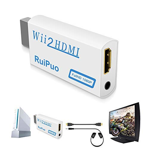 RCA to HDMI Converter Support Connection HDM Capture Card Compatible with WII/WII U/ PS1/2 PS3/ STB/Xbox/VHS/VCR/Blue-Ray DVD(Composite to HDMI Adapter)