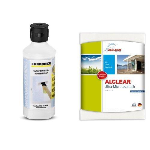 Kärcher 6.295-773.0 Glasreiniger RM 500 und ALCLEAR Fenstertuch 40x45 cm