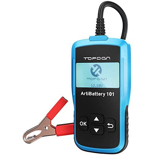 TOPDON AB101 Batterietester-Kfz-12V-6V universal Autobatterie-Tester für Kfz Motorrad LKW SUV etc, Auto-Batterie Zustand Starten & Ladesystem Testgerät, 6 Sprachen DEUTSCH inkl. (AB101)