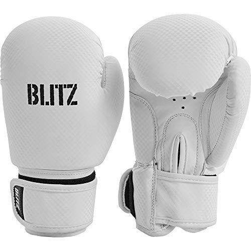Blitz Unisex Kinder Carbon Boxhandschuhe, Boxhandschuhe, 13959, weiß, Einheitsgröße