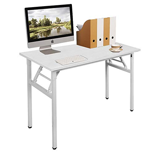 Need Folding Computer Table Computer Desk Compact Size 100 x 60 cm, White AC5DW-100