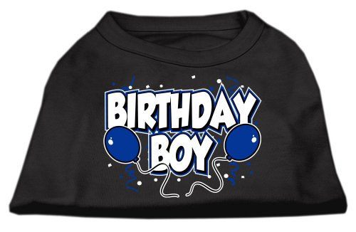 Mirage Pet Products 51-05 XLBK Birthday Boy Screen Print Shirts Schwarz XL - 16