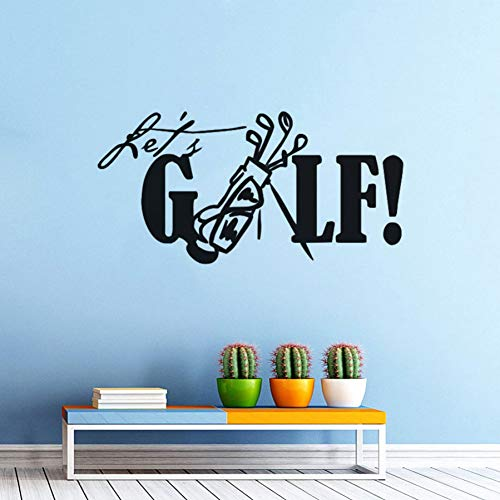 MMLFY Muursticker PVC Verwijderbare Golf Muursticker Laten Golf Quote Muursticker Sport Golf Club Wandmuurschildering Home DecorGolf Vinyl Decals