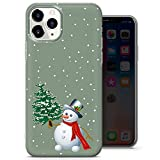Coque iPhone X, iPhone XS - Vert Christmas Surprise Phone Case, Red Candle Happy Deer Cover - Mince...