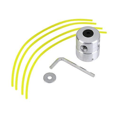 Cabezales de desbrozadora Cortador de Cabeza de Aluminio Universal Cabezales de Hierba Piezas de Repuesto para Cortacéspedes con Trimmer Línea
