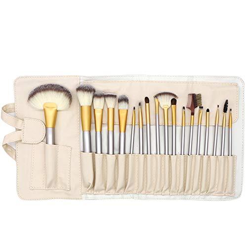 Pinceau de maquillage pour mélange de fond de teint blush correcteur d'ombres à paupières soies synthétiques en fibres synthétiques sans cruauté Brosse à maquillage XXYHYQ (Color : Or, Size : 24)