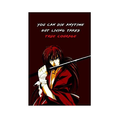 Rurouni Kenshin Quote Anime Canvas Poster