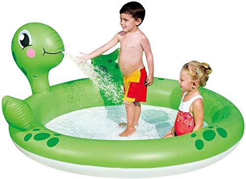 BBZZ Juguete inflable para niños, 71 x 60 x 26 pulgadas centro de actividades al aire libre, con rociadores de tortugas, piscina inflable engrosada, estanque de pesca para niños duradero