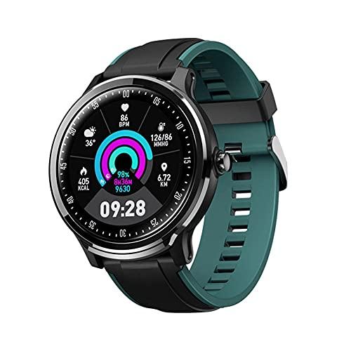 Relojes inteligentes GPS Seguimiento deportivo con 5ATM Impermeable Bluetooth Smartwatchs 1.3 Pantalla táctil completa en deportes Dormir Monitor de ritmo cardíaco 15 días Batería Life-E