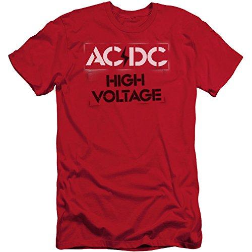 AC/DC Alta tensión de ajuste de la plantilla camiseta delgada para hombre...