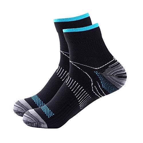 UKKO Socken 5 Paare Unisex Veins Socken Compression Für Plantar Fasciitis Fersensporn Arch Schmerz Beiläufigen Breathable Soxs Meias,5 Paar Schwarz Und Blau