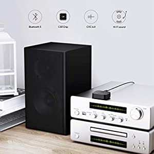 Bluetooth 5 Receiver Wireless Audio Music Adapter