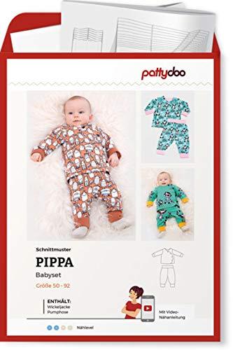 Schnittmuster Pattydoo Babyset Pippa - Wickeljacke & Punphose Gr.50-92 Papierschnittmuster
