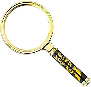 Magnifier Magnifying Glass for Reading 10X - 60MM Super Lightweight Handheld Magnifier for Reading Maps - Jeweler Watch Re...