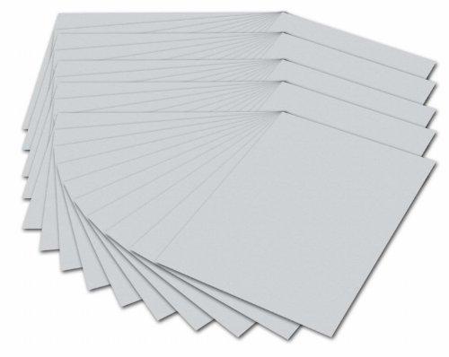 folia 614/50 80 - Fotokarton DIN A4, 300 g/qm, 50 Blatt, hellgrau - zum Basteln und kreativen Gestalten von Karten, Fensterbildern und für Scrapbooking