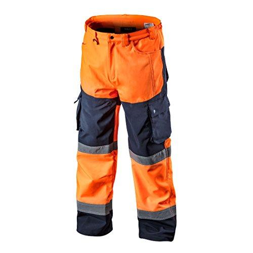 Softshell Warnschutzhose mit Reflektionsstreifen orange neon gelb Arbeitshose Warnschutz Sicherheitshose L orange