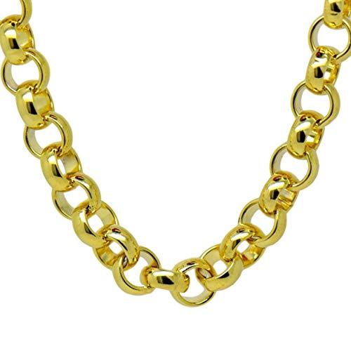 Blue Diamond Club - 9ct goud gevulde mannen dikke Belcher ketting 21 inch