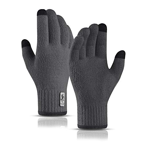 SYOSIN Winter Touch Screen Gloves Warm Knitted Gloves Working Outdoor Skiing Camping Hiking Running Biking Driving for Men and Women