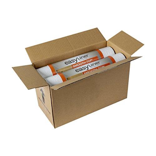Duck Smooth Top EasyLiner, 12-inch x 10 Feet, x 6 Rolls, White