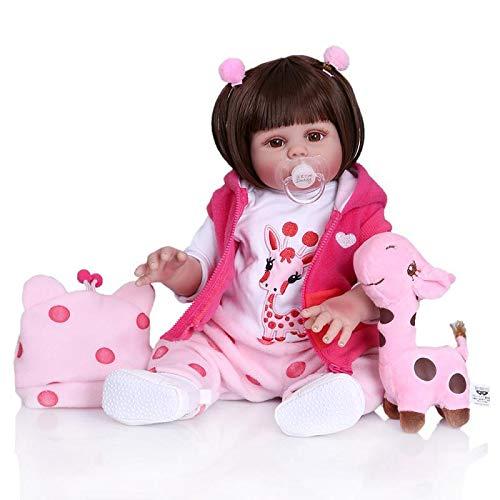HWZZ Simuliertes Baby-Ganzkörper-Silikon-Kinderspielzeug Mit Beweglichen Gliedmaßen, Geeignet Für Kinderbegleiter, Filmmodelle,48cm