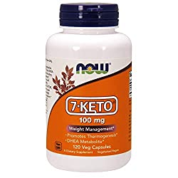 NOW Supplements, 7-Keto (DHEA Acetate-7-one) 100 mg, Weight Management*, 120 Veg Capsules