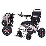 Wheelchair ERERDIAN- Intelligent Ultraleicht Elektrischer Rollstuhl Falten für Ältere Menschen Behinderte Ältere Menschen Elektrorollstuhl 6A Lithiumbatterie Bis Zu 9 Meilen Reichweite