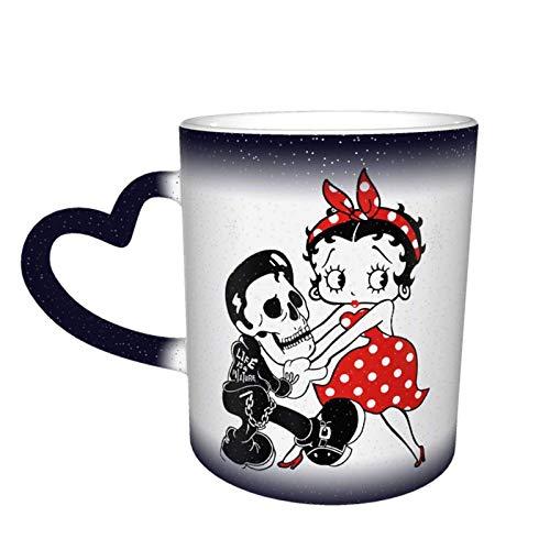 Betty Boop - Taza de café con cambio de color en el cielo estrellado