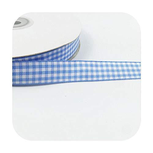 Happy-Boutique - Cinta de costura: 5 metros, 10 mm, 15 mm, 25 mm, enrejado de baldosas, lazo, envoltorio de regalo, cinta de poliéster a mano, accesorios de bricolaje, 15 mm de ancho