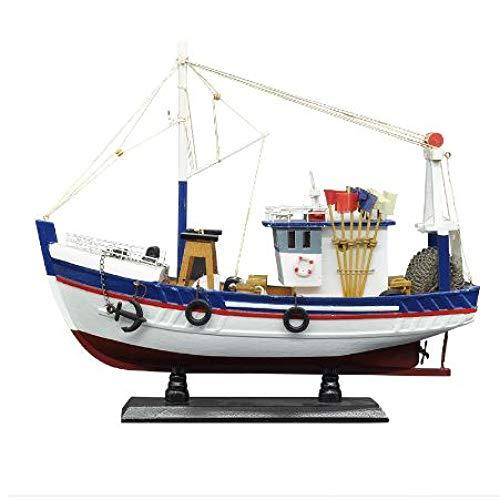 ZKRZ Barco De Pesca Blanco Modelo De Barco 3D Ensamblaje De