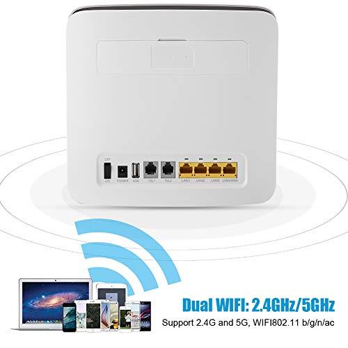 Wendry 4G draadloze router, E5186s-22a mobiele WLAN-router ondersteuning SIM-kaart CPE Dual WiFi, stabiele verbinding en snelle download snelheid tot 300 Mbps