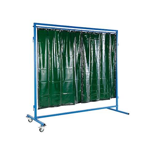 Certeo Mobile Schweissschutzwand | HxBxT 250 x 60 x 220 cm | Mobile Schweissschutzwand Schweißtische Werkstatt Trennwand