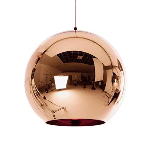 LJFG Globus Pendelleuchten Kupfer Glas Spiegel Kugel Hängelampe Küche Moderne Leuchten Hängeleuchte-Gold-30CM