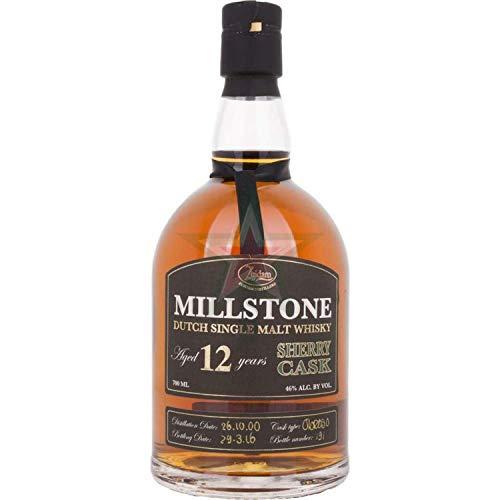 Millstone 12 Years Old Dutch Single Malt Whisky Sherry Cask 46,00% 0,70 Liter