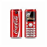 "K8 X8 Mini Mobile Phones Cute Pocket 1.0"" Cola Shape Telephone MP3 Bluetooth dialer Call Recording Dual SiM Smallest Cellphones (Red)"