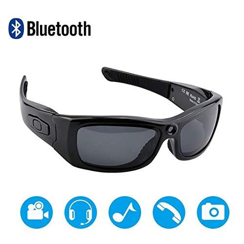 NAMENLOS Bluetooth cámara Gafas de Sol Full HD 1080P cámara grabadora de vídeo con protección UV Lente polarizada, un Gran Regalo para su Familia y Amigos