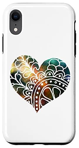 iPhone XR Emerald Milkyway Mandala Sacred Geometry Yoga Mantra Om Case