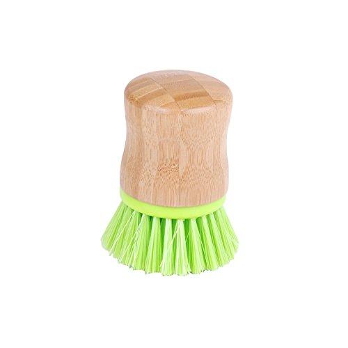 Urban living Brosse Vaisselle Poils durs - Diam. 5 cm - Vert anis