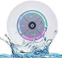 luce pulsante dell'arcobaleno LED, pulsanti di controllo riproduzione a distanza, ventosa significa che è possibile fissare il diffusore al piastrelle del bagno, dal lavandino della cucina o su qualsiasi altra superficie piana .. Bluetooth Speaker ve...