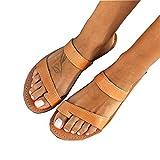 Sandalias Ortopédicas para Mujer, Deslizadores Cómodos De Suela Plana para Corregir Los Zapatos De Viaje De Playa Transpirables Informales De Cuero De Verano,Apricot-39