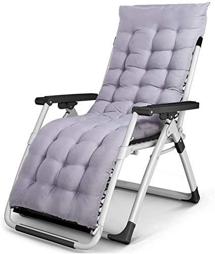 XZGDEN Ligero Sillas de Patio de Gravedad Cero reclinable, jardín al Aire Libre Tumbona, reclinable de la Oficina Plegable con Cojines (Color: sin Cojines) (Color : with Cushions)