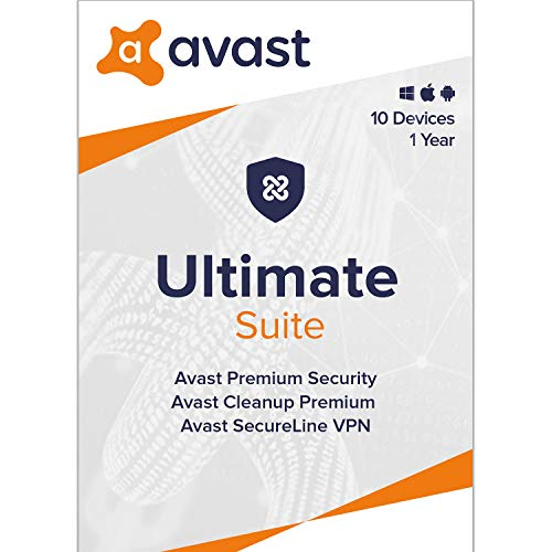 Avast Ultimate 2020 | Antivirus+Cleaner+VPN | 10 Devices, 1 Year [PC/Mac/Mobile Download]
