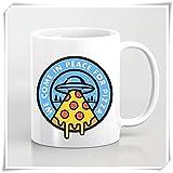 Coffee Mug We Come In Peace For Pizza Mug Gift Funny Meme Comida Vegetariana Pepperoni Dude Tortugas Amigos Veganos Novedad De Cerámica 330Ml Taza De Porcelana Taza De Café Taza De Té