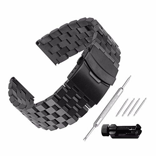Echthaarverlängerung Armband zeigt 26mm Stahl 304Ersatz mit Armband Link Pin Remover Set Reparatur Werkzeugset Armband hat Schnalle, Band Handgelenk-Wasserdicht Watch Band Set # 106