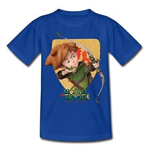Robin Hood Schießt Mit Seinem Bogen Kinder T-Shirt, 110/116 (5-6 Jahre), Royalblau